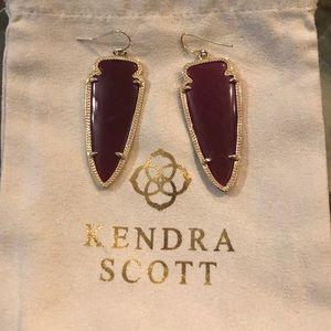Kendra Scott Maroon/Berry Skylars